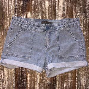 Prana Stripe jean shorts